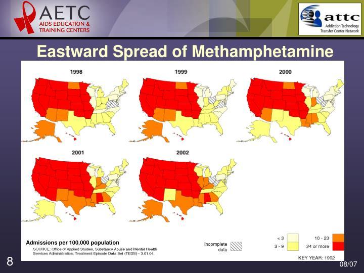 Eastward Spread of Methamphetamine
