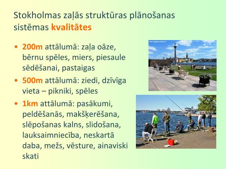 Stokholmas zaļās struktūras plānošanas sistēmas