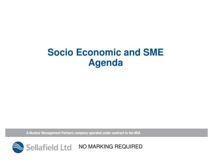 Socio Economic and SME Agenda