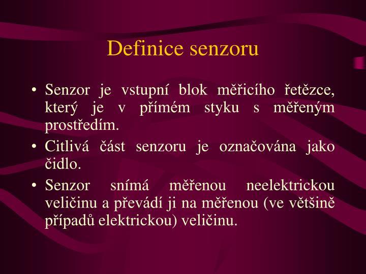 Definice senzoru