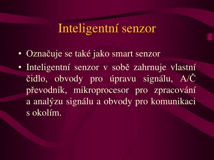 Inteligentní senzor
