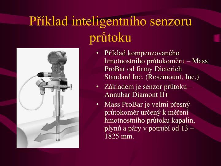 Příklad inteligentního senzoru průtoku