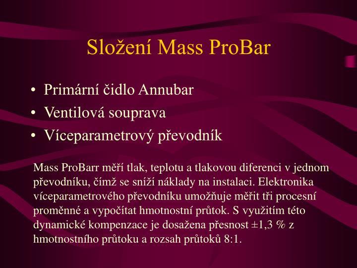 Složení Mass ProBar