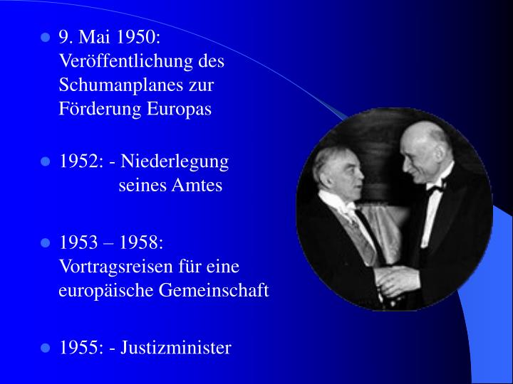 9. Mai 1950: