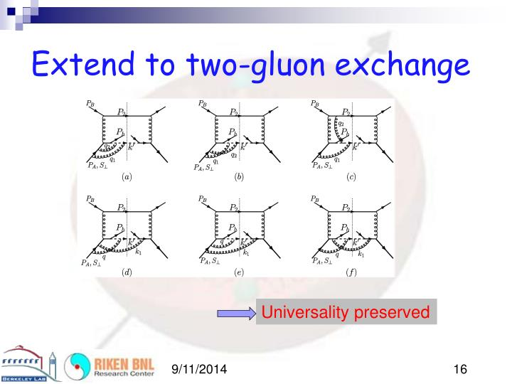 Extend to two-gluon exchange