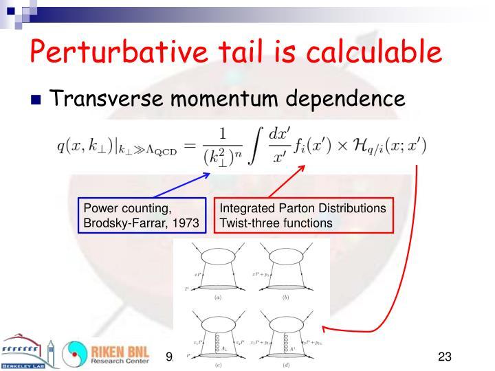 Perturbative tail is calculable