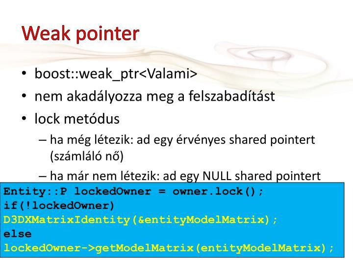 Weak pointer