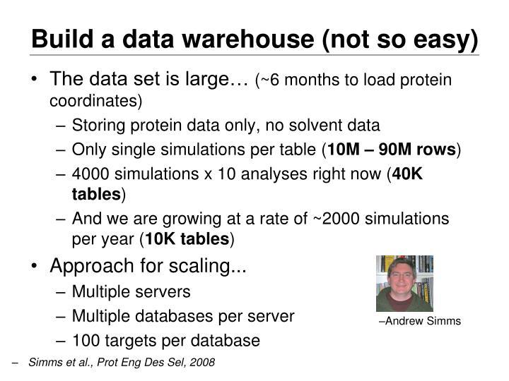 Build a data warehouse (not so easy)