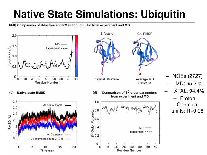 Native State Simulations: Ubiquitin