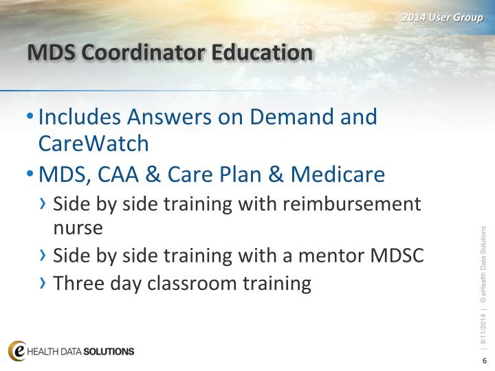 MDS Coordinator Education