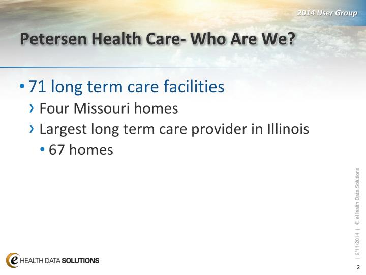 Petersen health care who are we
