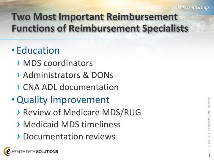 Two Most Important Reimbursement Functions of Reimbursement Specialists