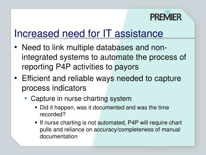 Increased need for IT assistance