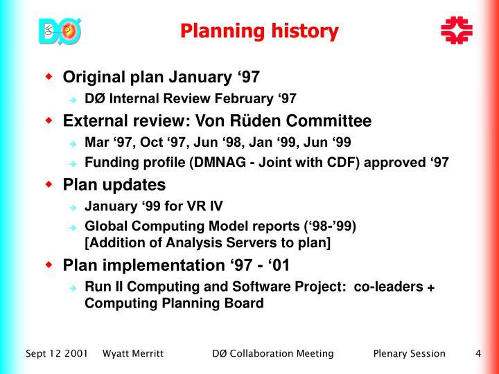 Planning history