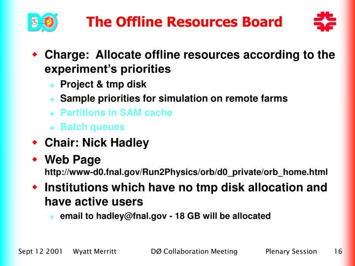 The Offline Resources Board
