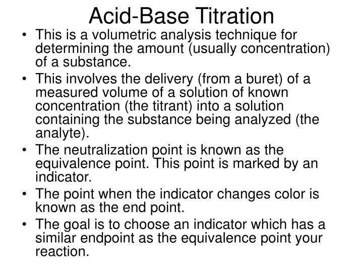 Acid-Base Titration