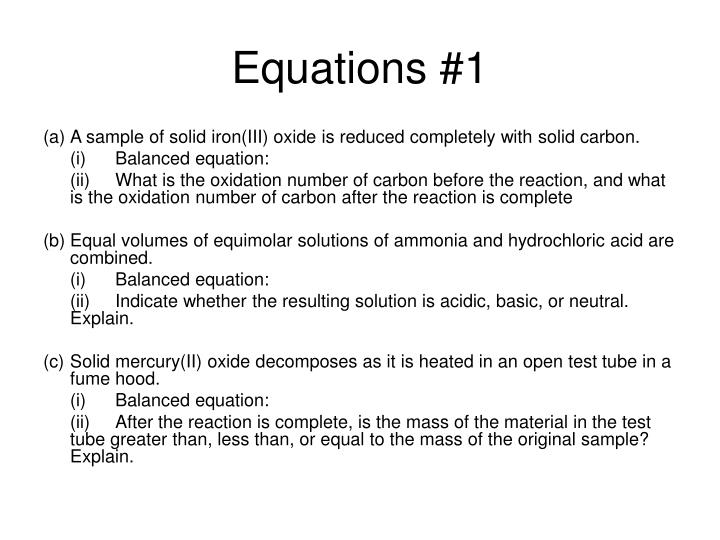 Equations #1