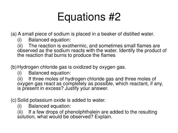 Equations #2