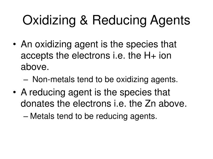 Oxidizing & Reducing Agents
