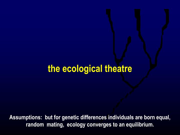 the ecological theatre