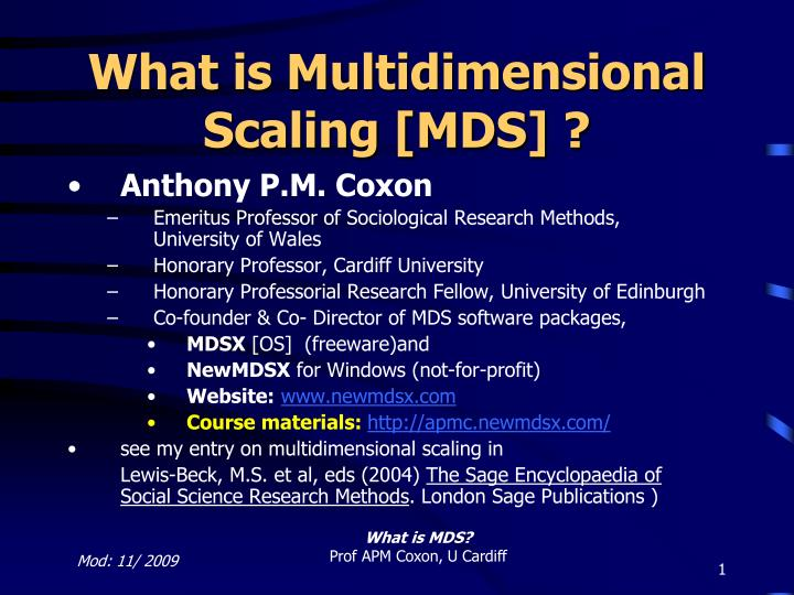 What Is Mds >> Ppt What Is Multidimensional Scaling Mds Powerpoint