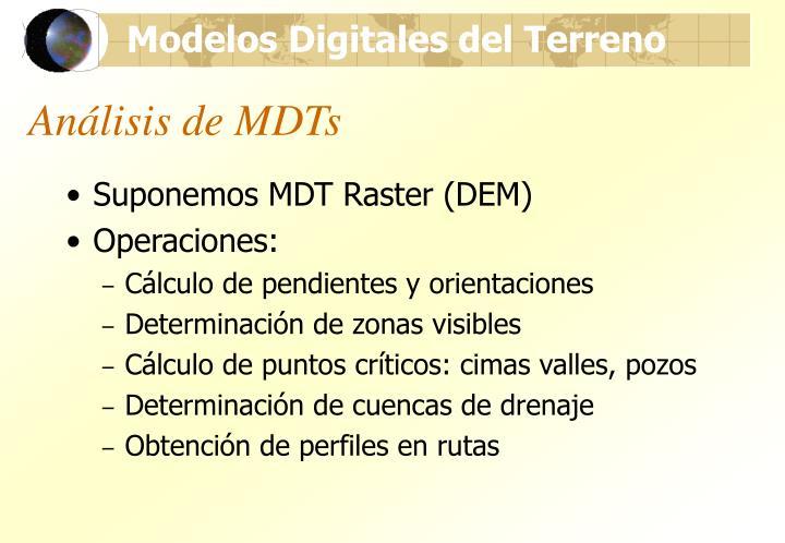 Análisis de MDTs