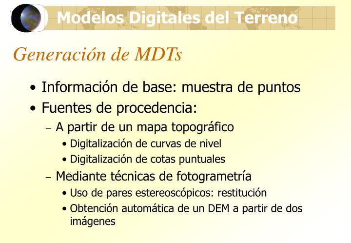 Generación de MDTs