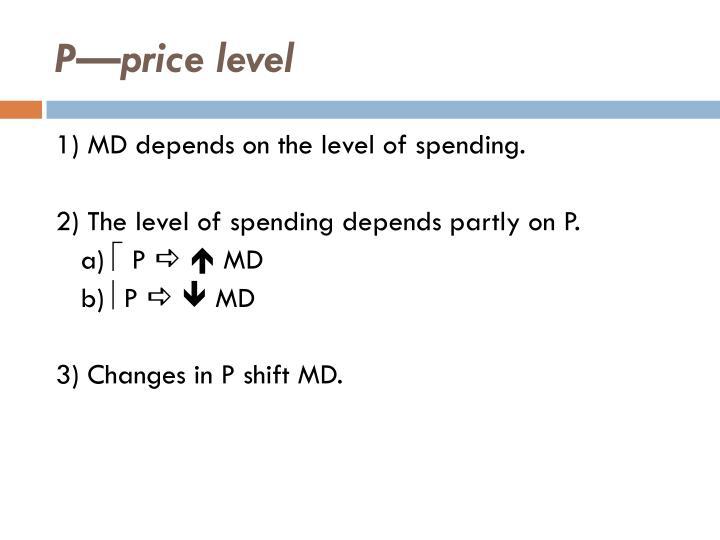 P—price level