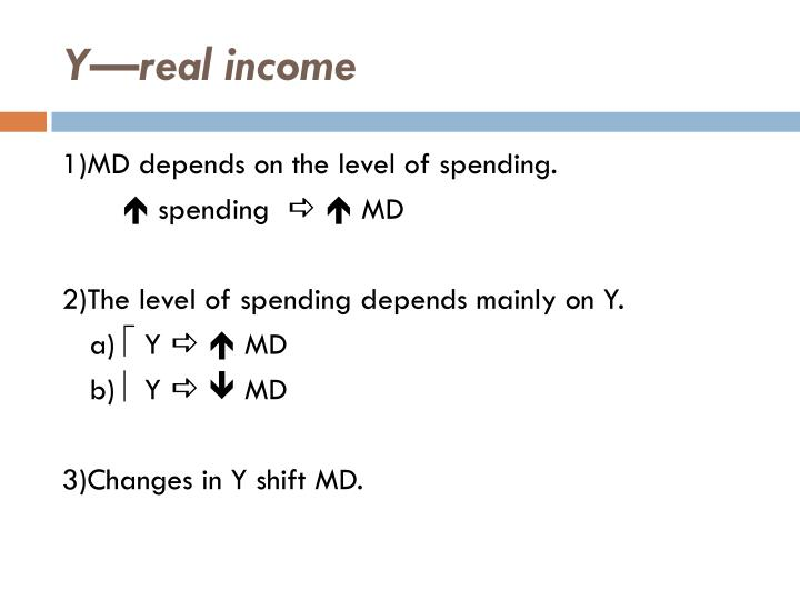 Y—real income