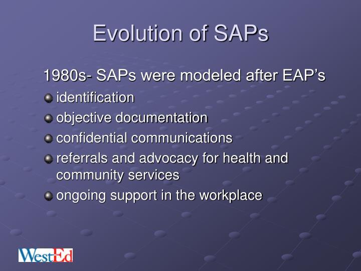 Evolution of saps