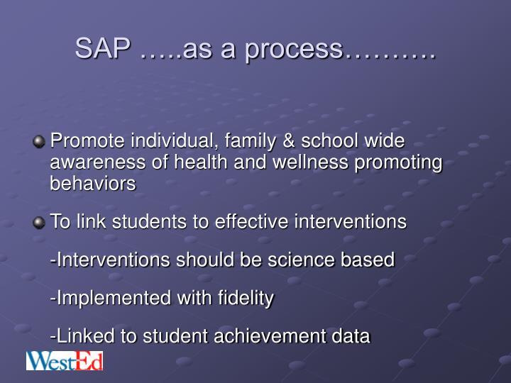 SAP …..as a process……….