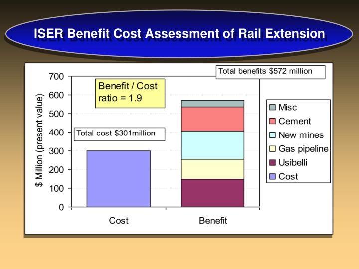 Iser benefit cost assessment of rail extension