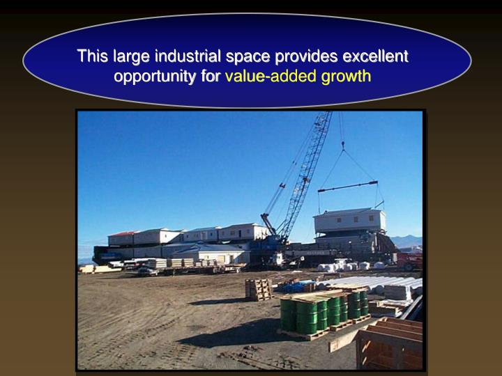 This large industrial space provides excellent opportunity for