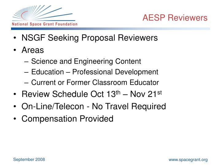AESP Reviewers