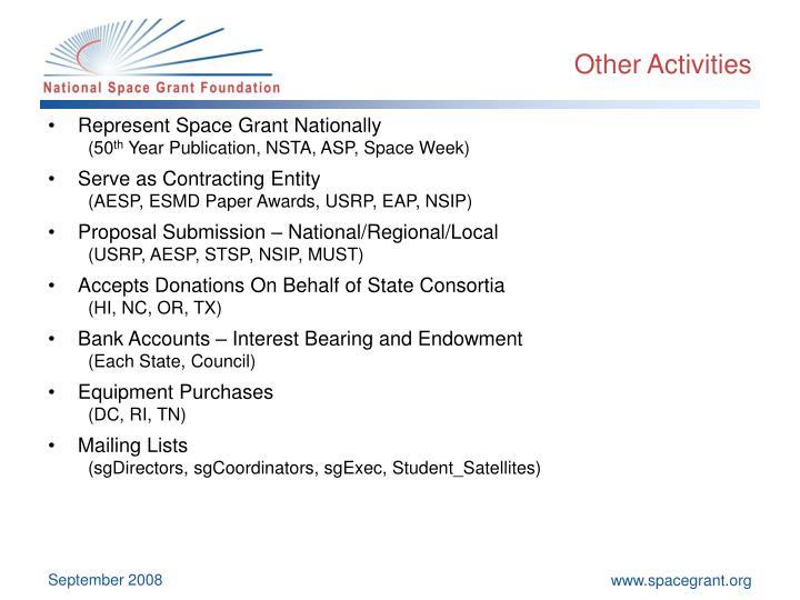 Other Activities