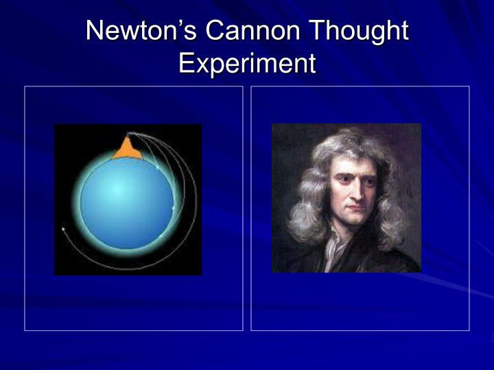 Newton's Cannon Thought Experiment