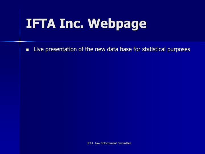 IFTA Inc. Webpage