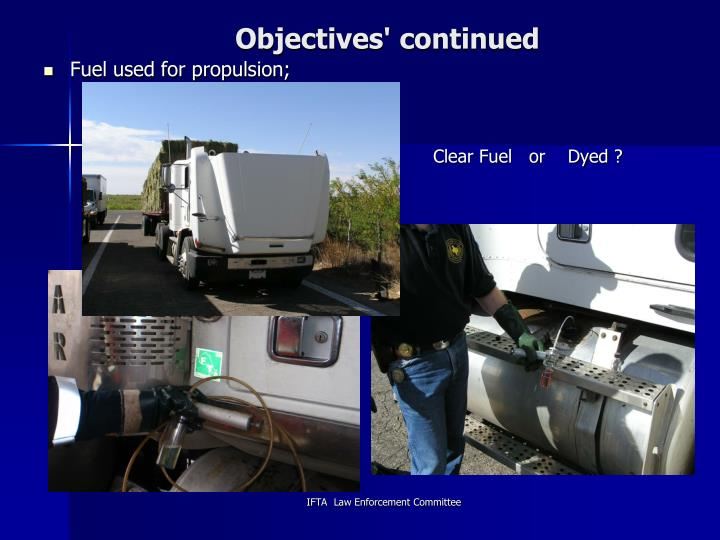 Objectives' continued