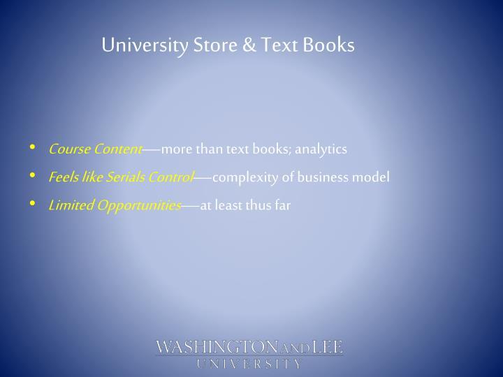 University Store & Text Books