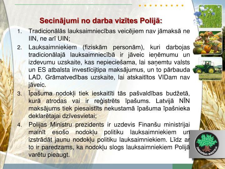 Secinājumi no darba vizītes Polijā: