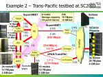 example 2 trans pacific testbed at sc2003