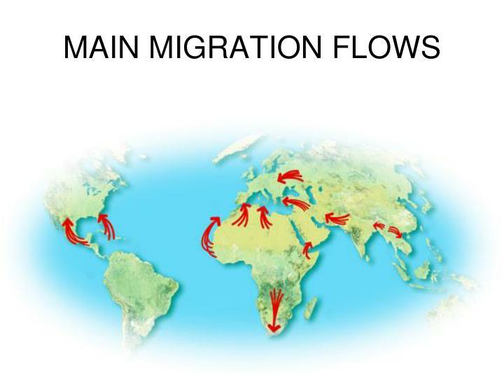 Main migration flows