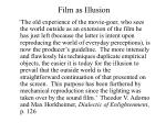 film as illusion