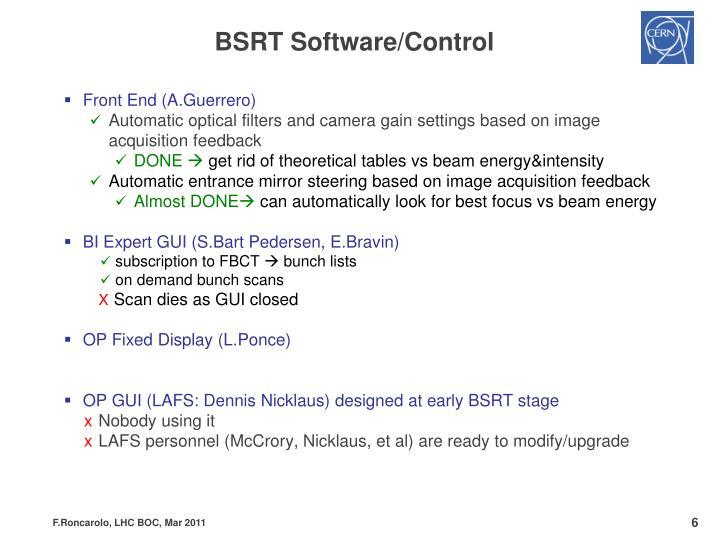 BSRT Software/Control