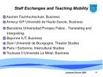 staff exchanges and teaching mobility