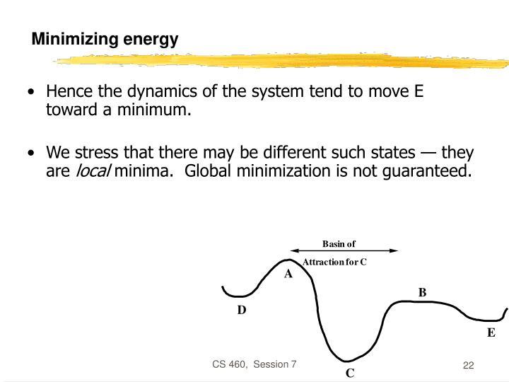 Minimizing energy