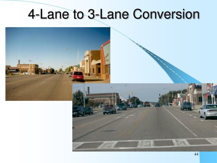 4-Lane to 3-Lane Conversion