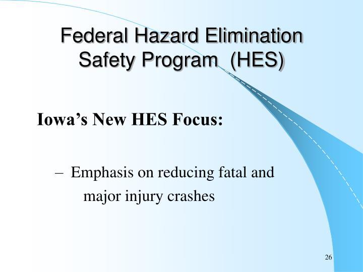 Federal Hazard Elimination Safety Program  (HES)