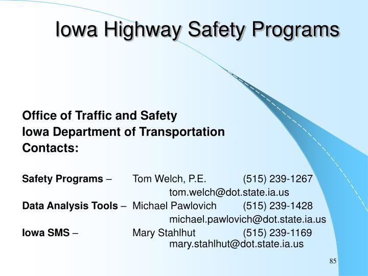 Iowa Highway Safety Programs