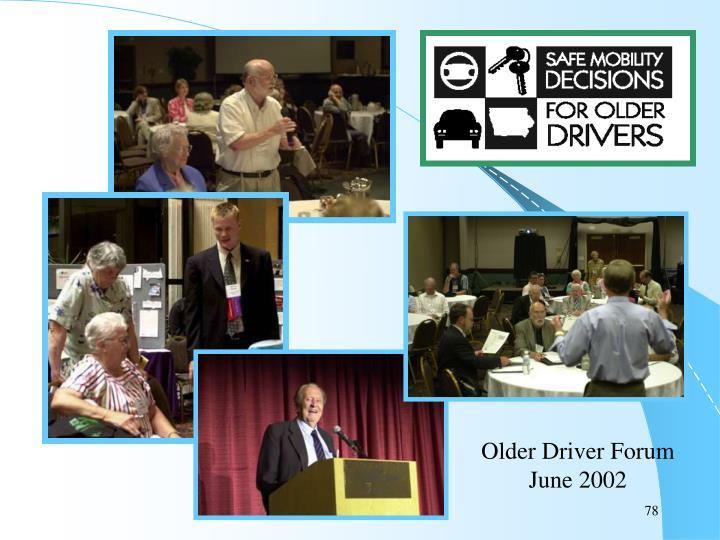Older Driver Forum